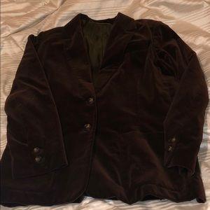 Suede-like brown blazer